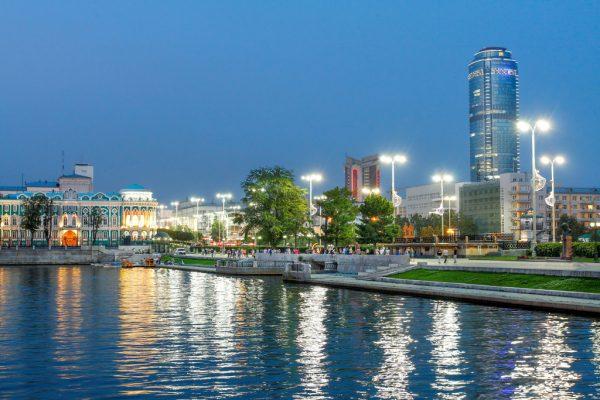Вид на набережную Екатеринбурга