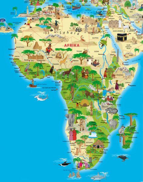Туристическая карта Африки