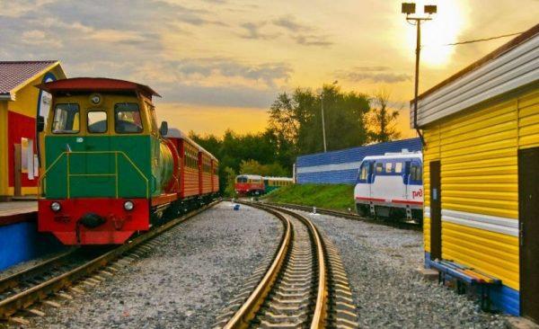 Свердловская детская железная дорога в Екатеринбурге