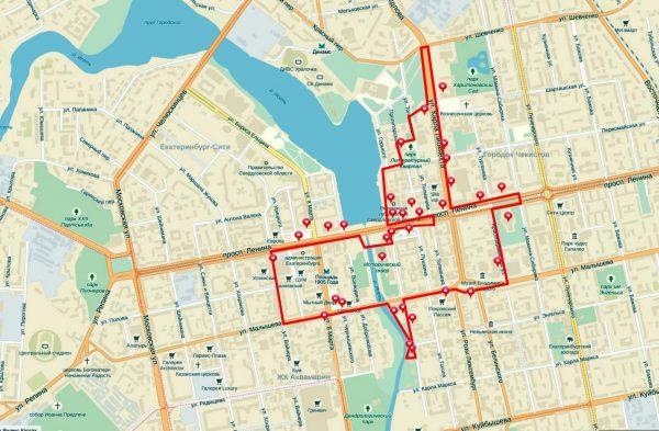 Туристический маршрут «Красная линия» в Екатеринбурге