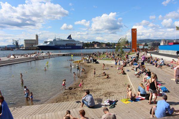 Пляж в Осло