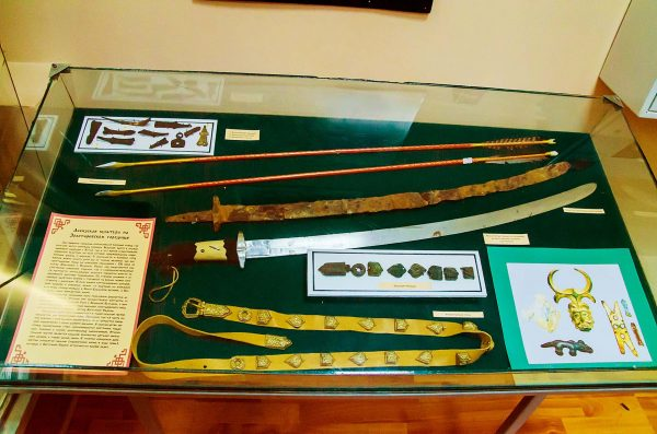 Экспонаты музея в Золоторёвке