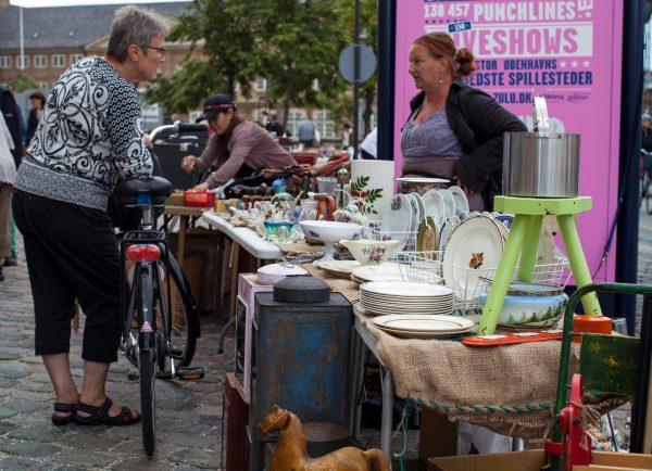 Блошиный рынок Israel Plads, Копенгаген