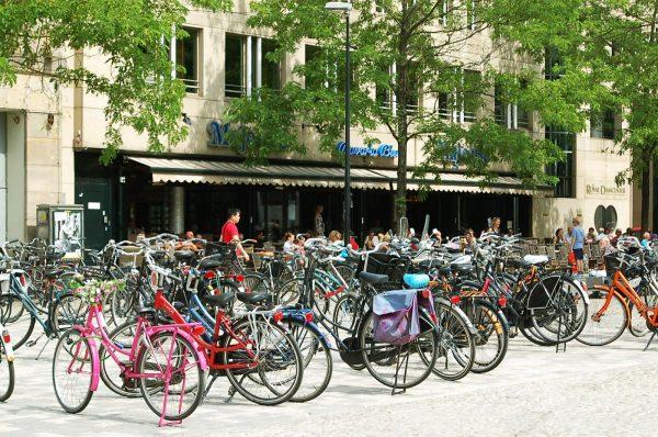 Велосипедная стоянка в Копенгагене