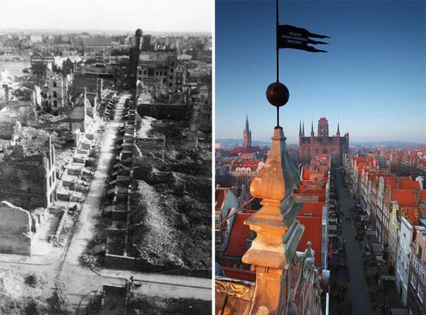 Гданьск во время и после войны