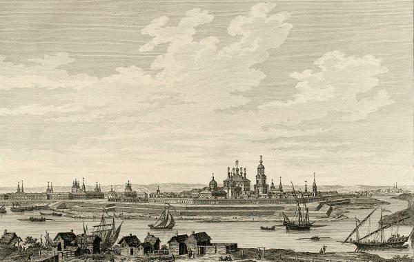 Панорама Твери в конце XVIII века