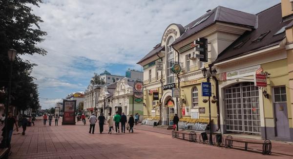 Улица Трёхсвятская в Твери