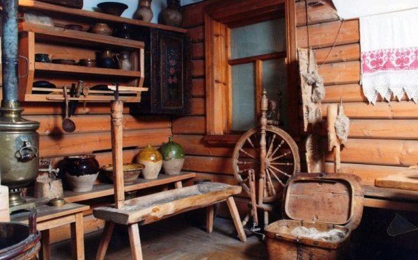 Зал музея тверского быта в Твери