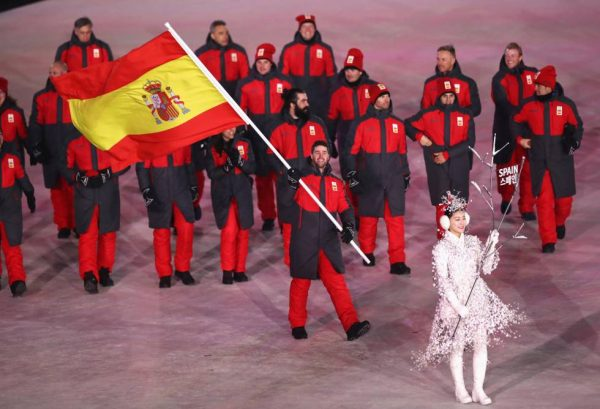 Спортсмены на Олимпиаде под флагом Испании