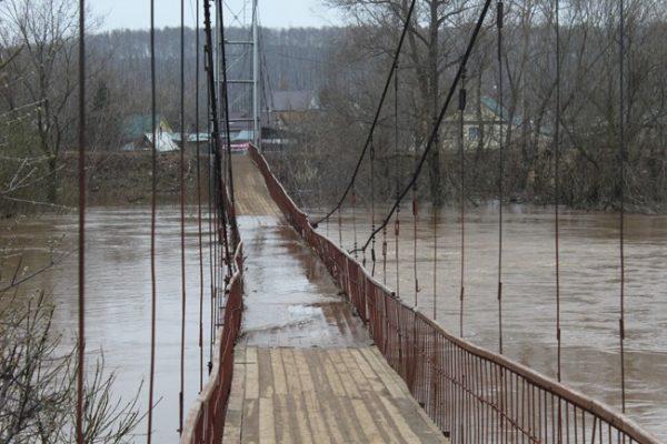 Подтопленный подвесной мост