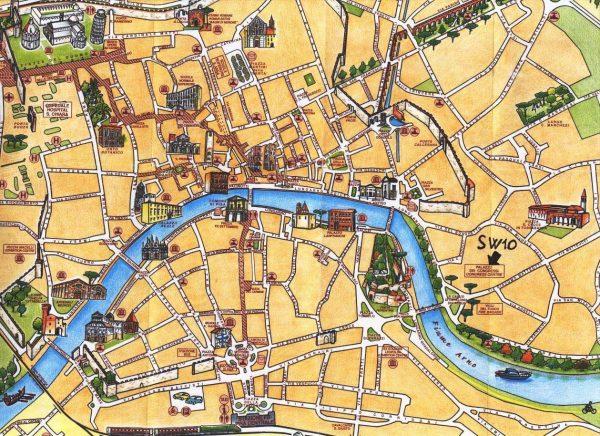 Туристическая карта Пизы