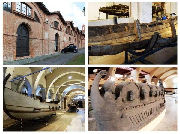 Выставка старинных кораблей в Пизе