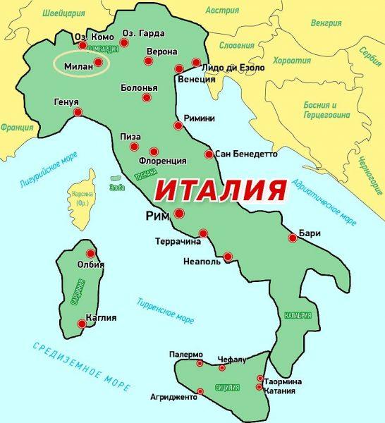 Пиза на политической карте Италии