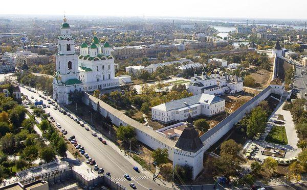 Астраханский кремль, вид сверху