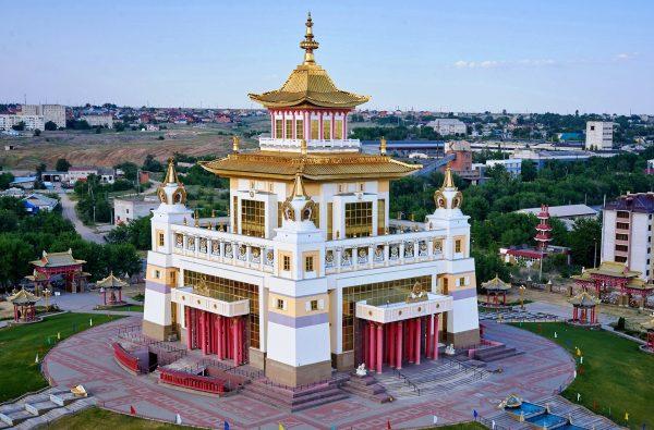 Золотая обитель Будды Шакьямуни в Элисте