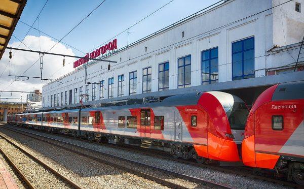 Экспресс «Ласточка» на вокзале Нижнего Новгорода