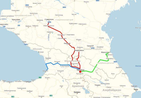 Схема проезда в Тбилиси