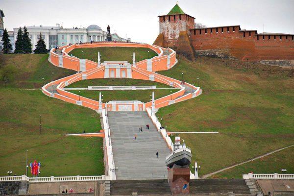 Чкаловская лестница Нижнего Новгорода