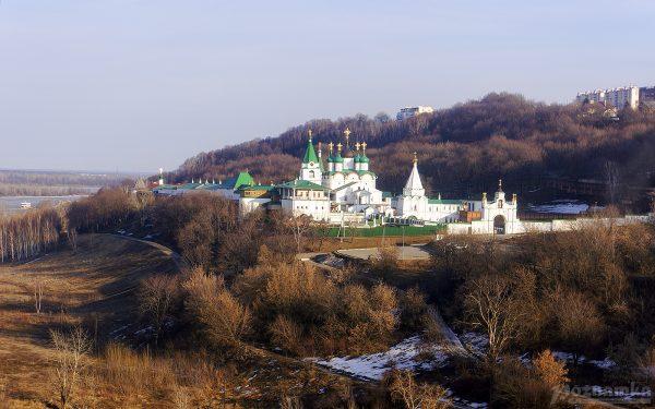 Вид с канатной дороги Нижнего Новгорода