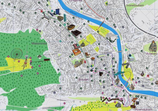 Туристическая карта Тбилиси
