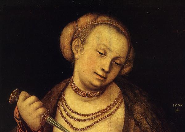 Фрагмент картины «Лукреция» Лукаса Кранаха Старшего в Нижегородском художественном музее