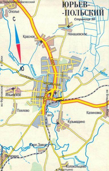 Карта Юрьева-Польского
