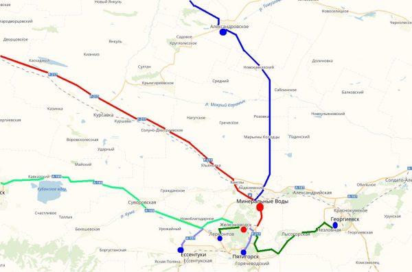 Схема проезда в Железноводск