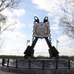 Памятник погибшим кораблям в Астрахани