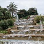 Водный каскад в парке Монжуика