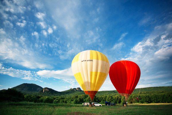 Воздушные шары на склоне Железной горы