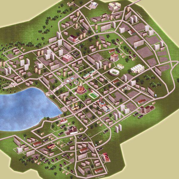 Туристическая карта Ижевска