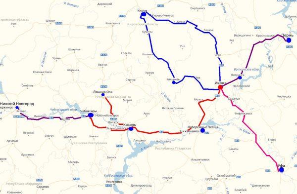 Схема проезда в Ижевск
