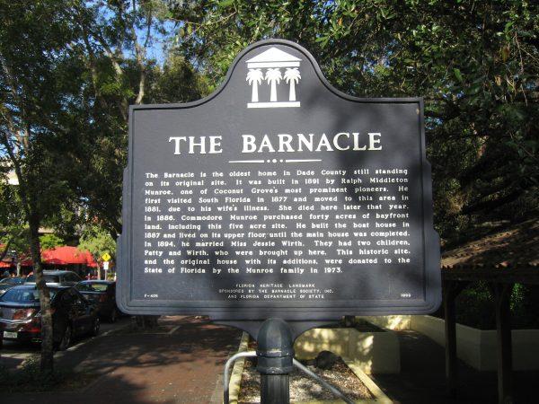 Исторический парк Барнэйкл в Майами