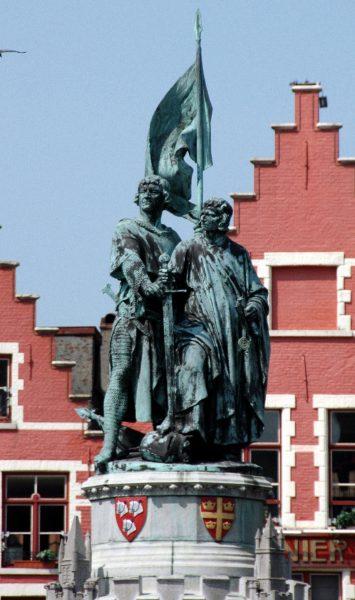 Памятник Яну Брейделю и Питеру де Коннику