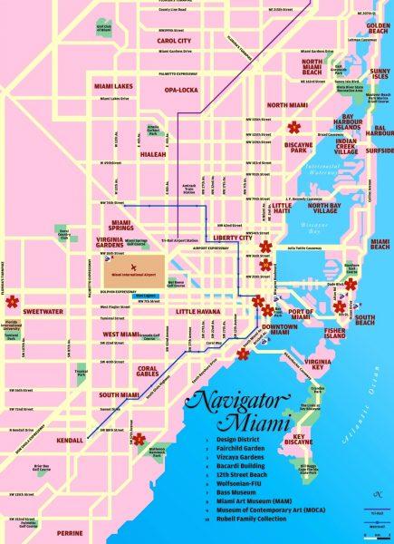 Туристическая карта Майами