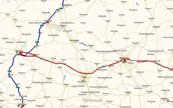 Схема проезда в Познань