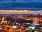 Вид на ночной Челябинск