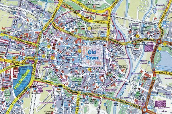 Туристическая карта Познани