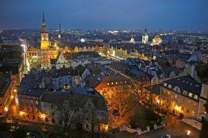 Ночной город Познань