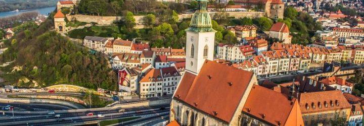 Братислава, вид сверху