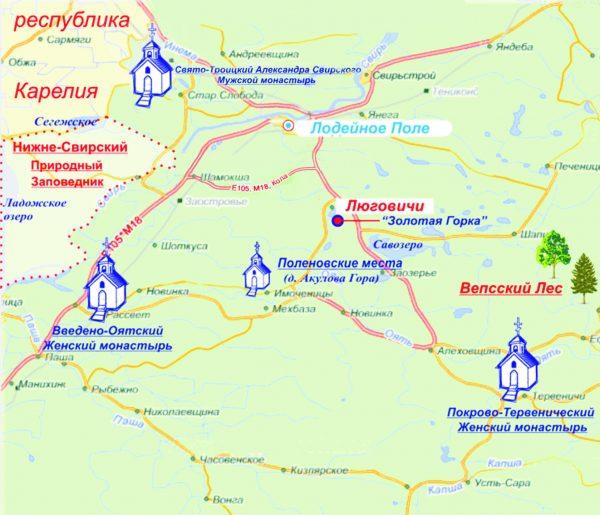Карта достопримечательностей