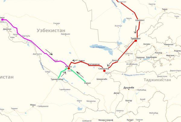 Схема проезда в Бухару