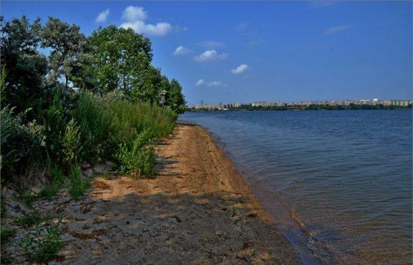 Вид на озеро Первое в Челябинске