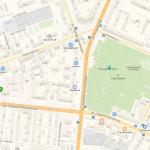 Сад Победы на карте Челябинска