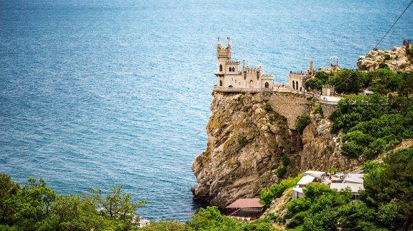 Вид на скалы в Крыму