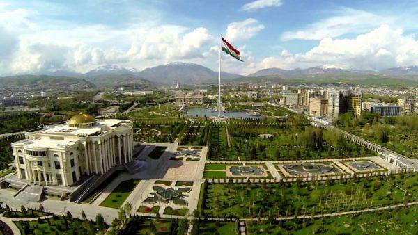 Душанбе, вид сверху