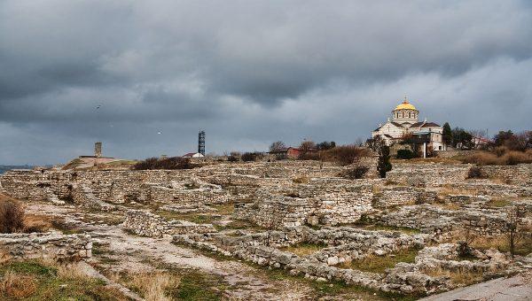 Вид на Херсонес Таврический в Крыму