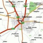 Карта автомобильных дорог Дебрецена