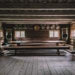 Норвежский Народный музей, вид на избу изнутри