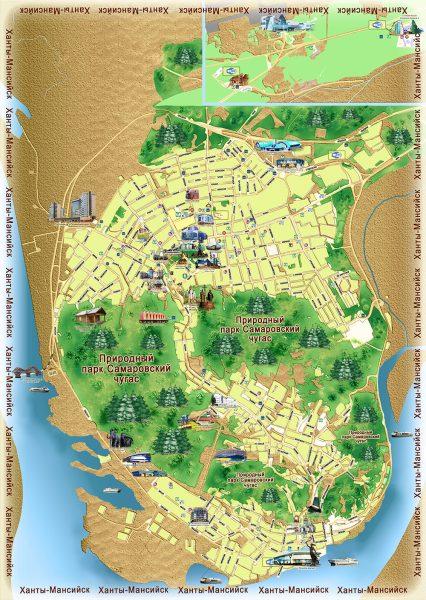 Туристическая карта Ханты-Мансийска